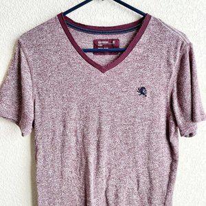 Express Mens Small Burgundy Polo Shirt Cotton Lion